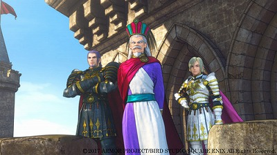 デルカダール国王とグレイグとホメロス