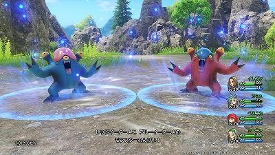 敵が連携してくる場合も。レッドイーターとブルーイーターによる連携攻撃
