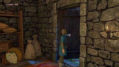 ドラクエ11イシの村・自宅から外に出る主人公